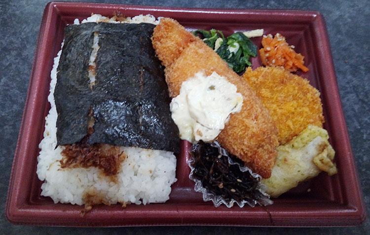 デイリーヤマザキ「海苔弁当(398円)」