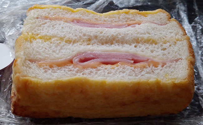 デイリーヤマザキ「フレンチトースト[ハムチーズ](130円)」