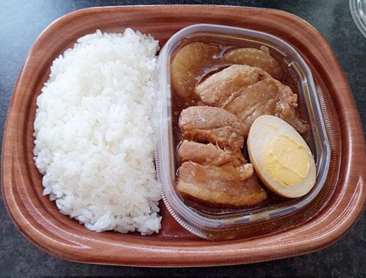 セブンイレブン「豚角煮のお弁当(498円)」
