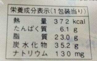 ファミリーマート「ダブルクリームサンド[ホイップ&カスタード](135円)」カロリー
