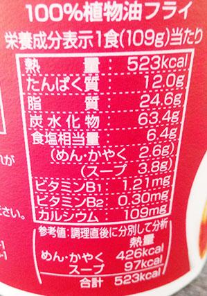 ファミリーマート「味仙 台湾ラーメンビッグ(216円)」のカロリー