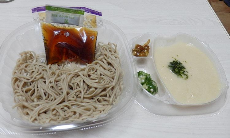 セブンイレブン「だし割とろろを味わう冷たいお蕎麦(430円)」
