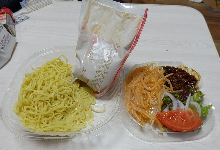 セブンイレブン「ピリ辛スープの冷し肉味噌担々麺(460円)」
