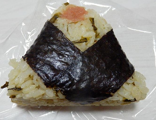 セブンイレブン「直巻おむすび 高菜混ぜ飯と明太子(150円)」