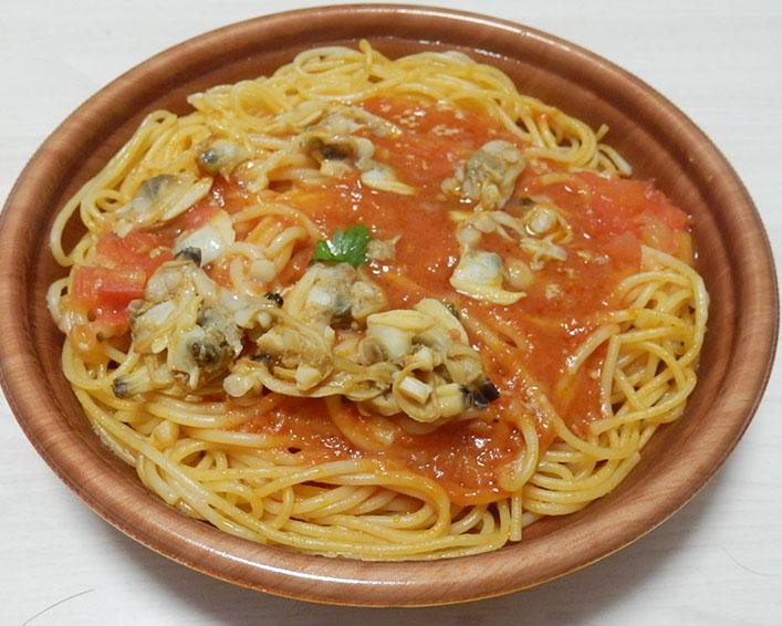 セブンイレブン「あさりとトマトのボンゴレスパゲティ(460円)」