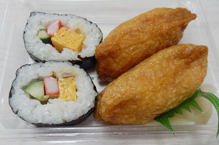 デイリーヤマザキ「ミニ助六寿司(210円)」