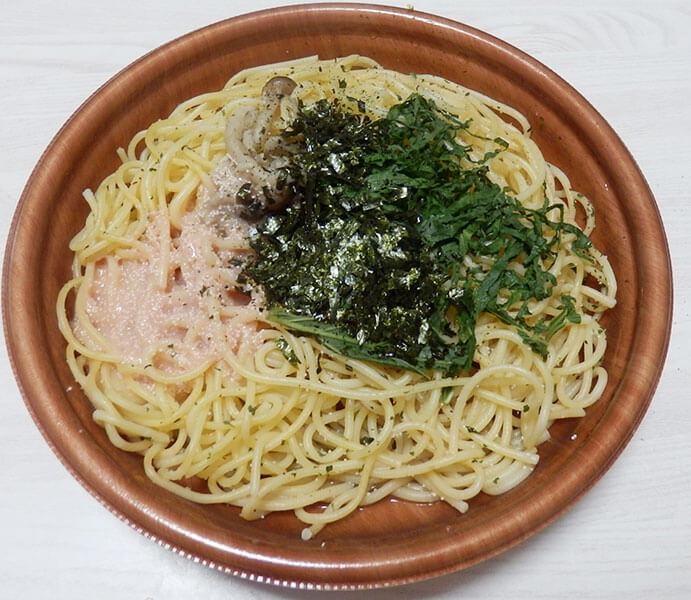 セブンイレブン「3種だしの和風パスタ北海道産たらこと大葉(430円)」