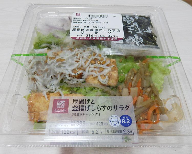 厚揚げと釜揚げしらすのサラダ(420円)