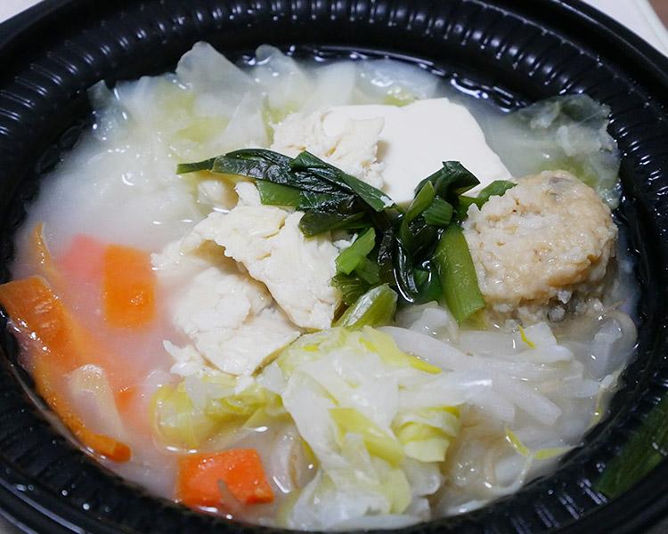 鍋から〆まで楽シメる!鶏・鶏・鶏白湯鍋[玉子雑炊](498円)
