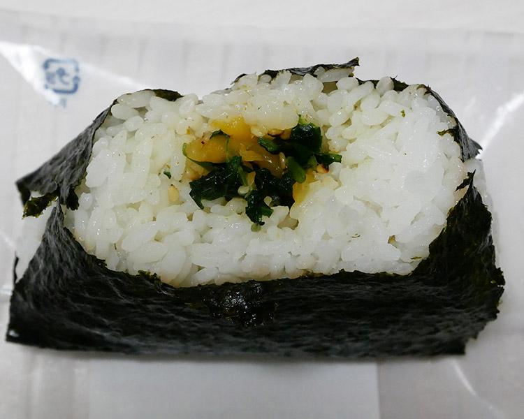 デイリーヤマザキ「大きなおむすび[野沢菜たくあん](160円)」