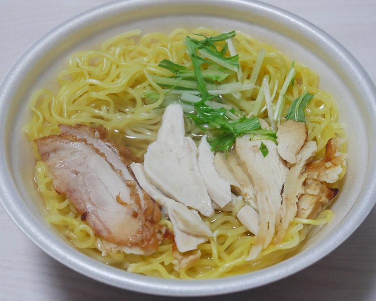 ローソン「肉麺!鶏塩そば[チキン3種盛り](530円)」