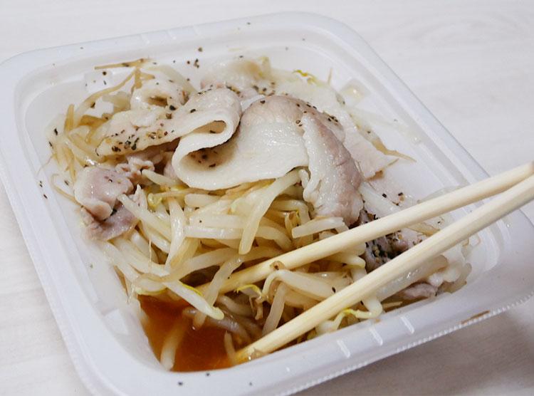 セブンイレブン「ぽん酢で食べる!豚もやし(321円)」