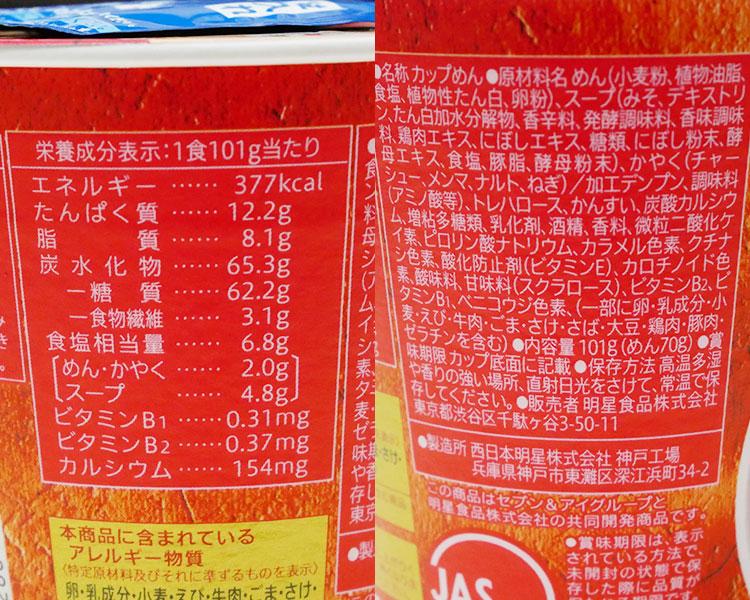 セブンイレブン「銘店紀行 龍上海(213円)」の原材料・カロリー