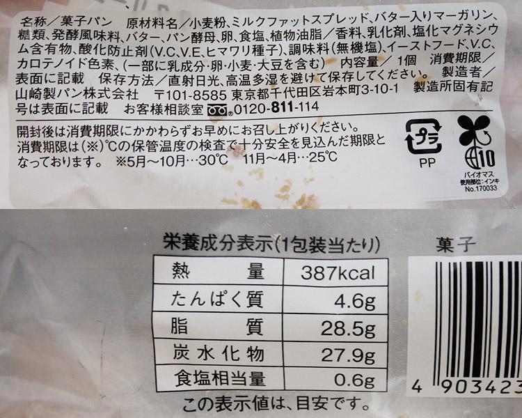 ローソン「マチノパン まんまるデニッシュ ミルククリーム(130円)」の原材料名・カロリー
