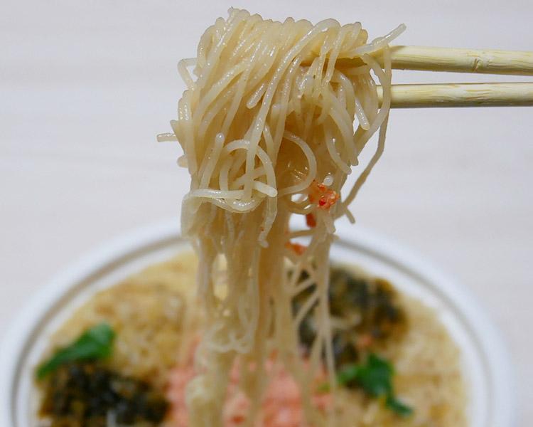 セブンイレブン「高菜と明太子のピリ辛ビーフン(360円)」