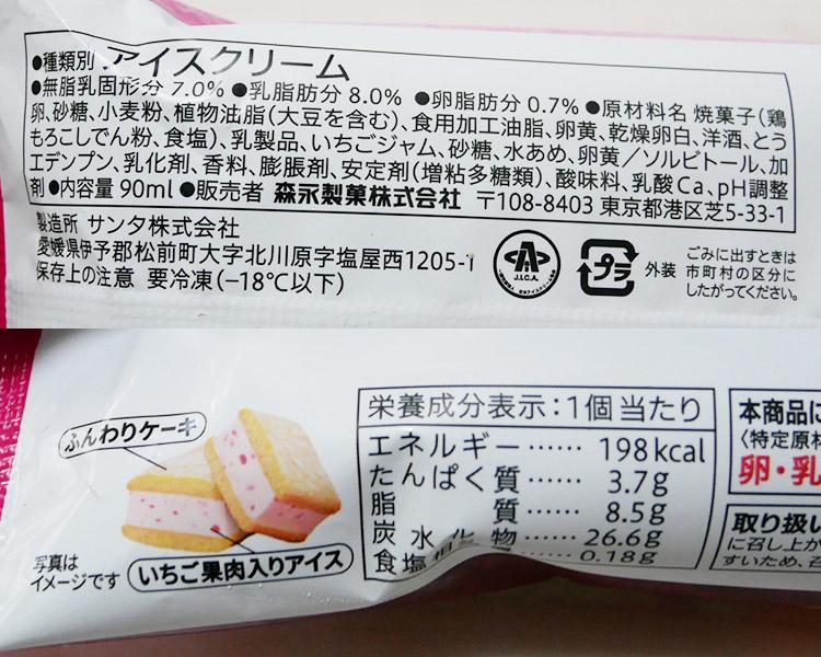 セブンイレブン「苺のケーキサンド(199円)」の原材料・カロリー