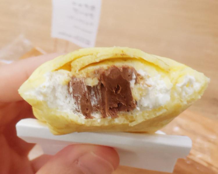 ローソン「生チョコクレープ[チョコチップ入り](165円)」