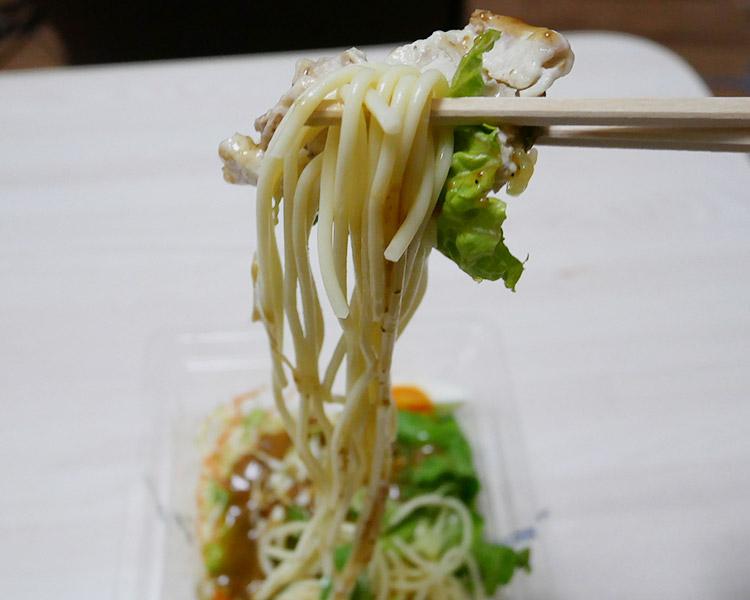 デイリーヤマザキ「豚しゃぶパスタサラダ[深煎り焙煎胡麻](330円)」