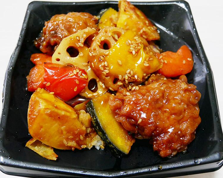 まいばすけっと「彩り野菜と鶏の黒酢丼(397円)」