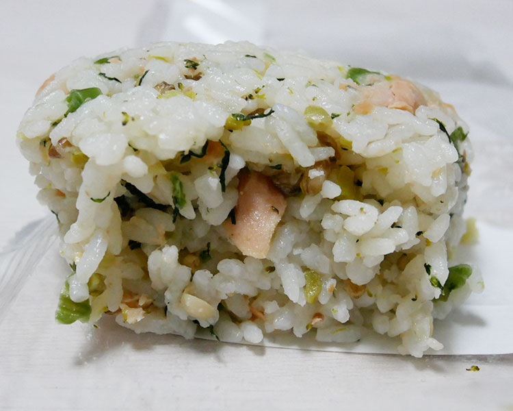 ミニストップ「おにぎり 鮭と野沢菜のごはん(108円)」