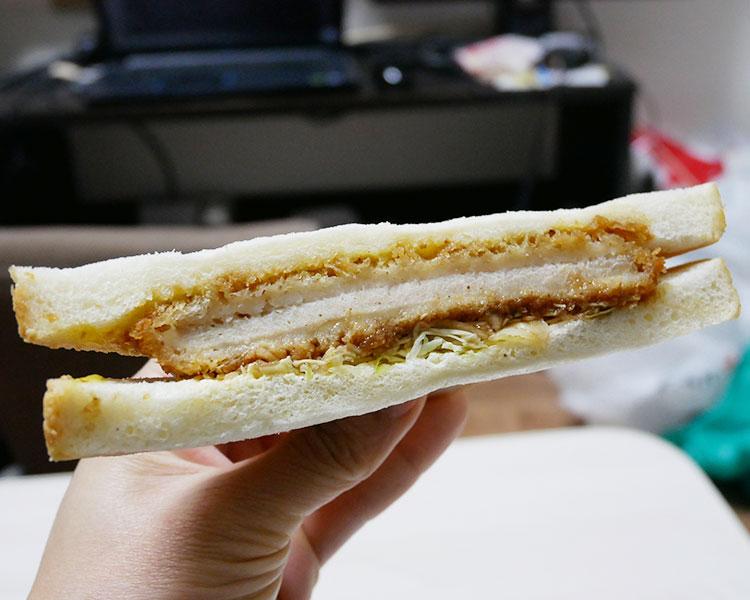 デイリーヤマザキ「三元豚ロースかつサンド(190円)」