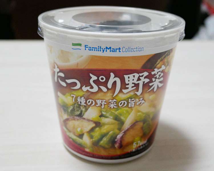 カップみそ汁 たっぷり野菜(138円)