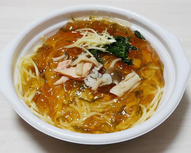 デイリーヤマザキ「鮭ときのこの和風スープスパゲティ(453円)」