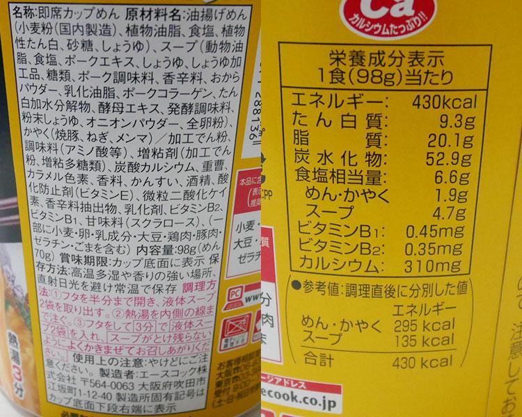 ファミリーマート「来来亭 こってりラーメン(216円)」の原材料・カロリー