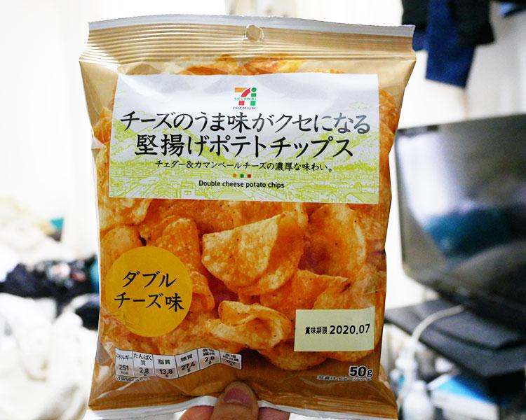 チーズのうま味がクセになる堅揚げポテトチップス(108円)