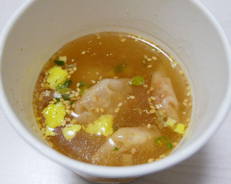 セブンイレブン「鶏だしとごま油の風味 ワンタン春雨スープ(138円)」