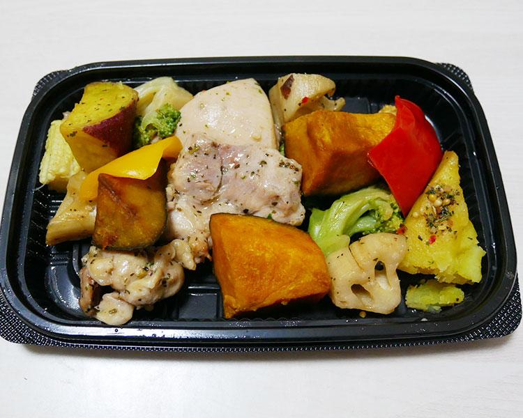 まいばすけっと「チキンと彩り野菜のバジル焼(300円)」
