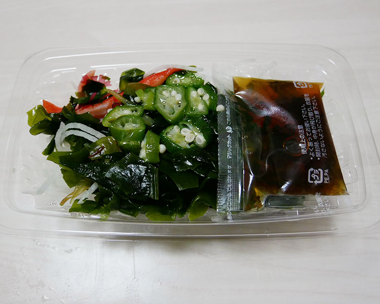 ポプラ「海藻のネバネバサラダ[青じそドレ](226円)」