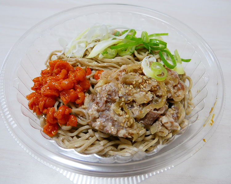 デイリーヤマザキ「冷しラー油肉蕎麦(453円)」