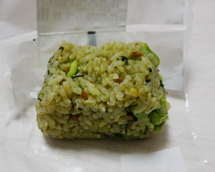 ローソン「4種青菜と枝豆のおにぎり(125円)」