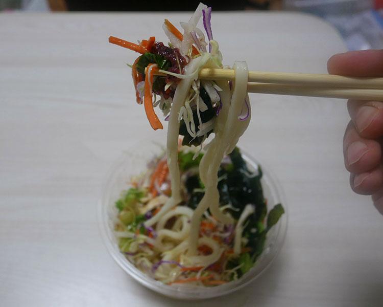 ミニストップ「梅ドレのさっぱりうどんサラダ(399円)」