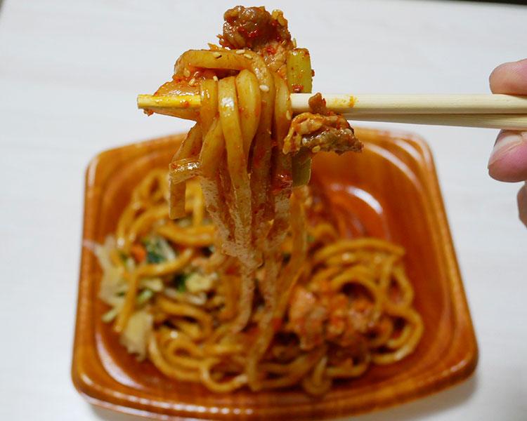 ミニストップ「ごま油のコク豚キムチ焼うどん(399円)」