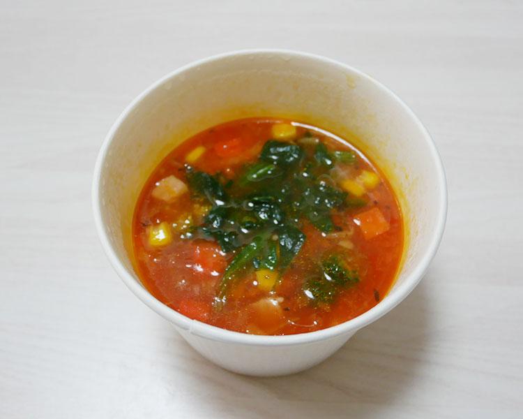 デイリーヤマザキ「野菜とベーコンのミネストローネ(321円)」