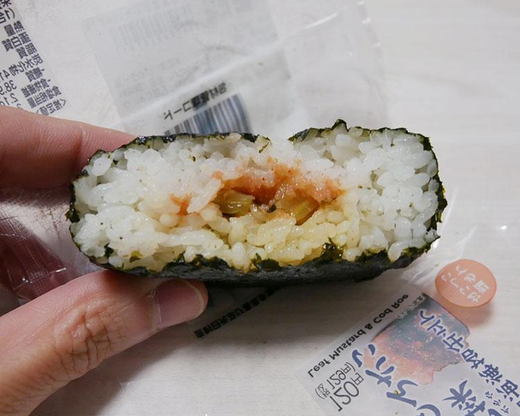 セブンイレブン「醤油海苔仕立ておむすび高菜めんたい(129円)」