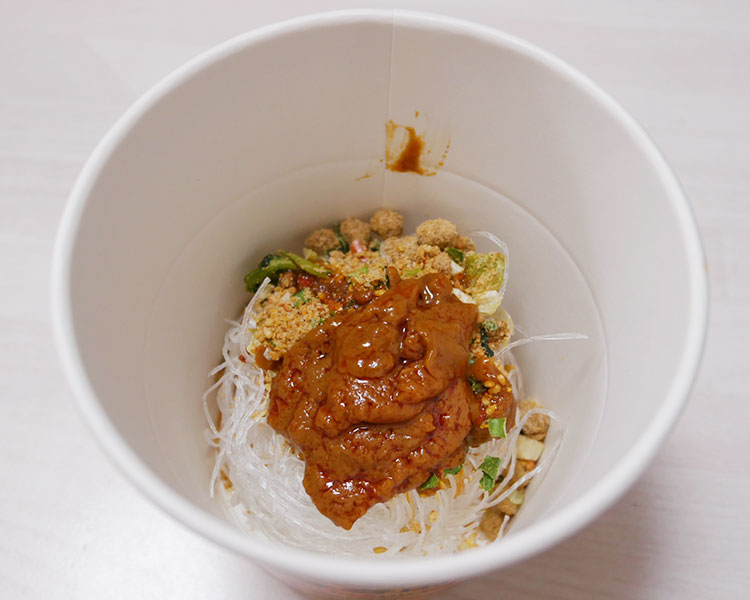 セブンイレブン「担々麺味春雨スープ(105円)」