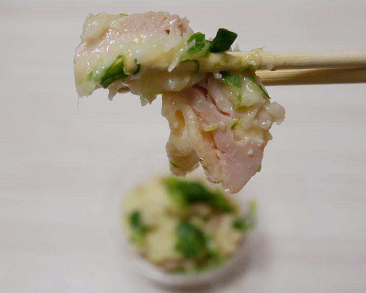 セブンイレブン「鶏モモ肉と豆もやしナムルの葱塩ダレ(246円)」