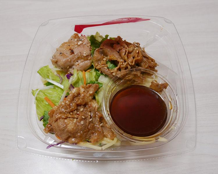 デイリーヤマザキ「三種焼肉のスタミナパスタサラダ(378円)」