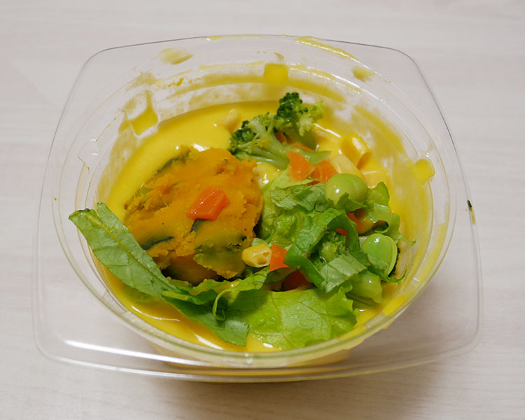 デイリーヤマザキ「野菜を食べる!かぼちゃの冷製スープ(321円)」